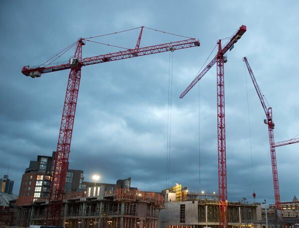 Cranes on HOME site