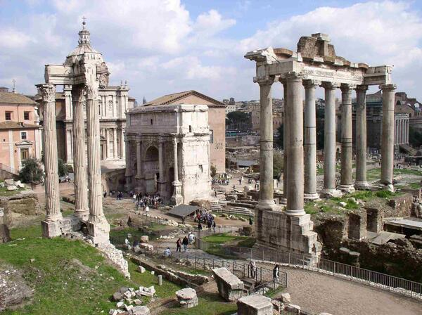 Ancient roman forum
