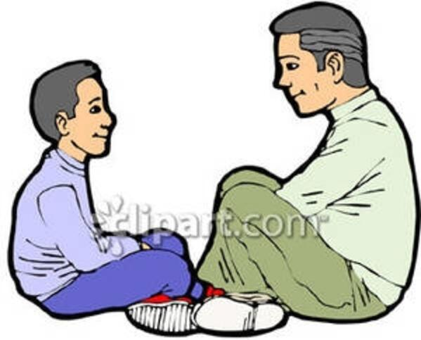 Boy and His Dad Royalty Free Clipart Picture 090211-033418-597042