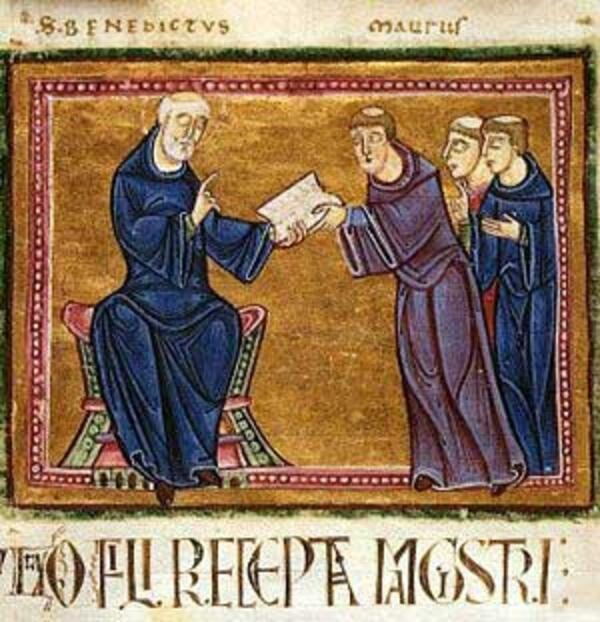 St Benedict giving RB
