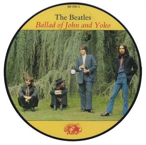 The Beatles - Ballad Of John Yoko Insert - 7 PICTURE DISC-38787