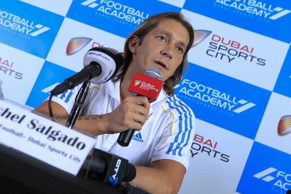 Former Real Madrid and Spain legend Michel Salgado now Director of Football at Dubai Sports City Football Academy