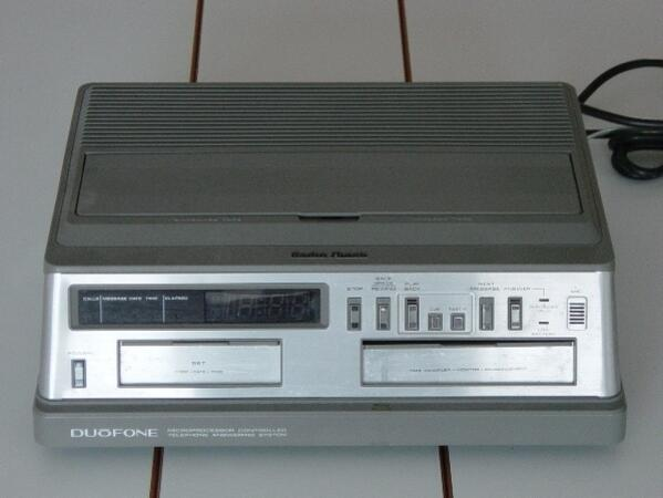 Answering machine w tape obsoleteblog