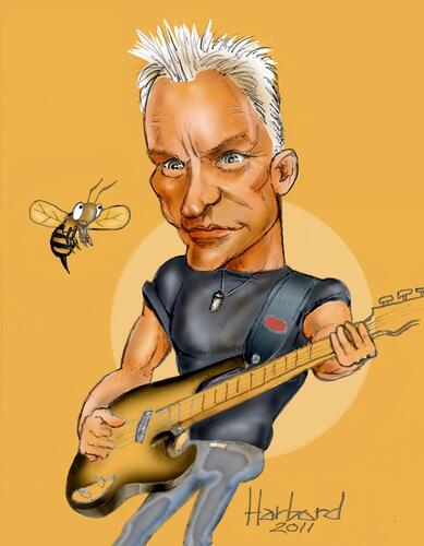 sting caricature 1428645