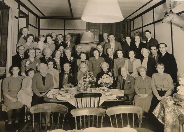 JP some Knole staff and families 1940s