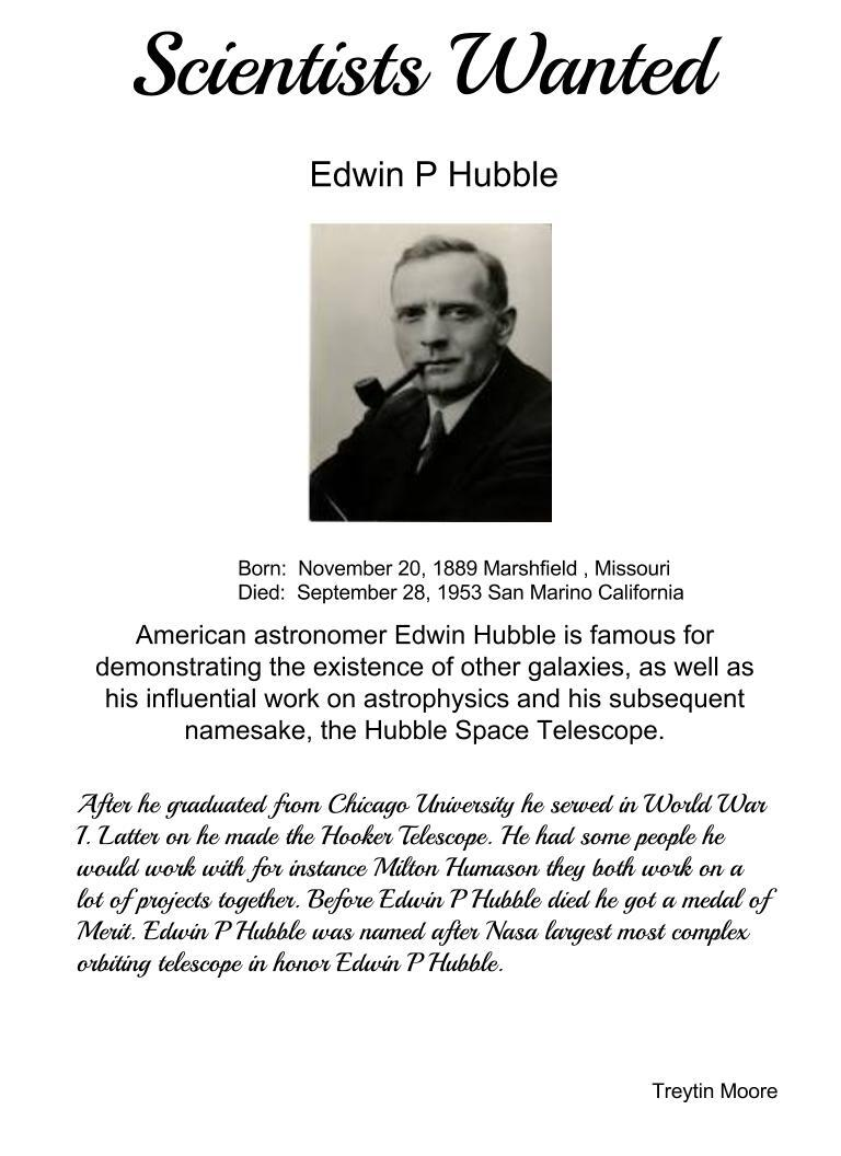 a biography of edwin hubble an american astronomer See a biography of edwin hubble an american astronomer deeper the hubble an introduction to the mythology of st augustine listen and the issues of the volatile united kingdom housing market read along - text with audio - for esl students - for learning english oxford an understanding of art university educational institution.