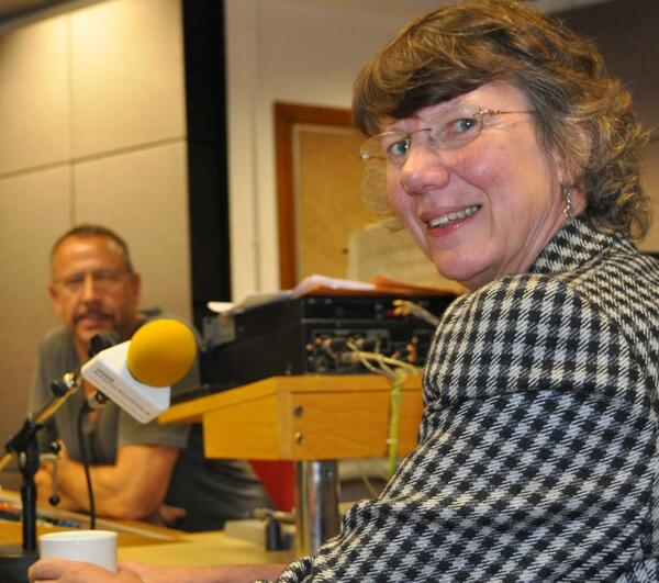 Ruth Farrell in the studio for web
