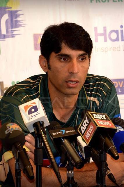 Misbah media conference