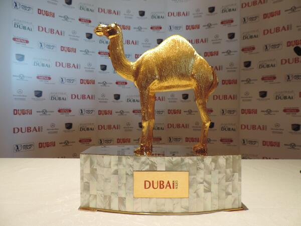 The DUBAi Open Trophy played for at The Els Club at Dubai Sports City