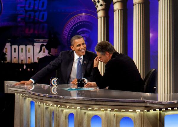 Obama on the Daily Show with Jon Stewart cropped