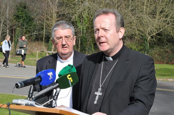 Archbishop Diarmuid Martin and Archbishop Eamon Martin in Maynooth on Day 2 of Bishops Conference meeting 013 PIC BRENDA DRUMM