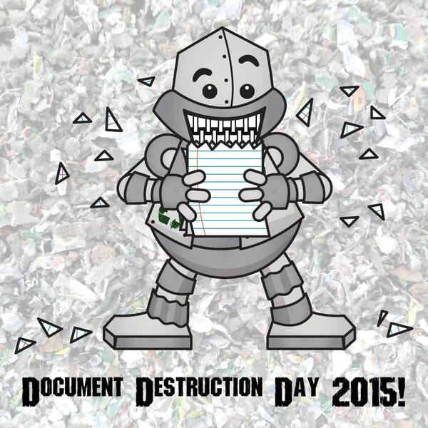 document destruction day 2015 with background