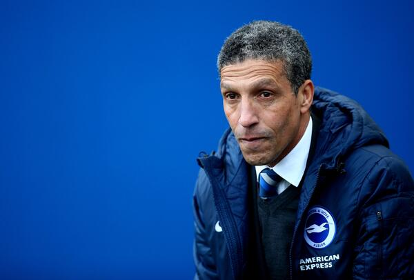 Chris Hughton bench Getty