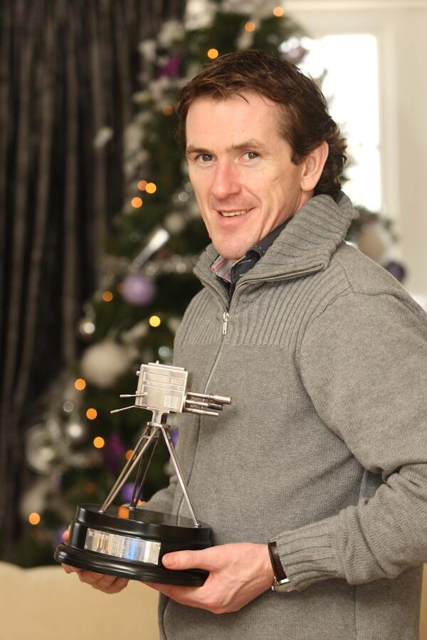 racingfotos The Sports Personality Of The Year 2010 Tony McCoy relaxing at home after his big night
