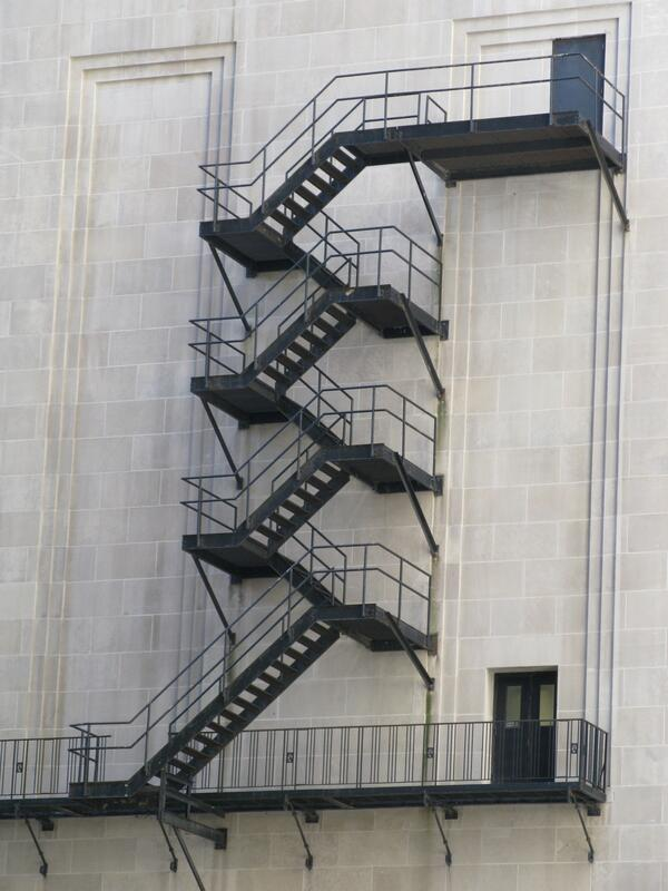 Chicago Board of Trade Fire Escape Stairs