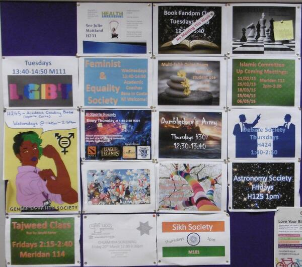 Societies Noticeboard