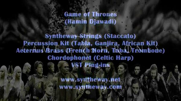 Game Of Thrones Ramin Djawadi Syntheway Strings Magnus Choir Brass Chordophonet Harp