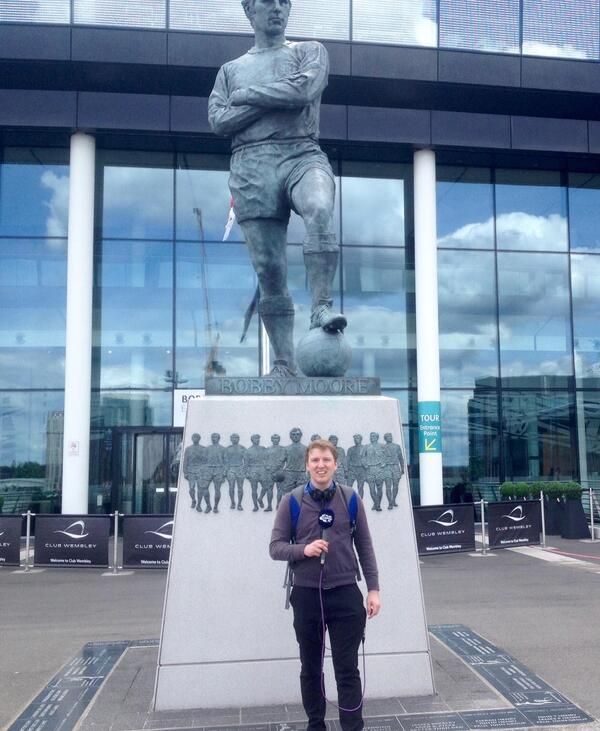 Wembley Reporting Bobby Moore