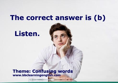 confusing words answer