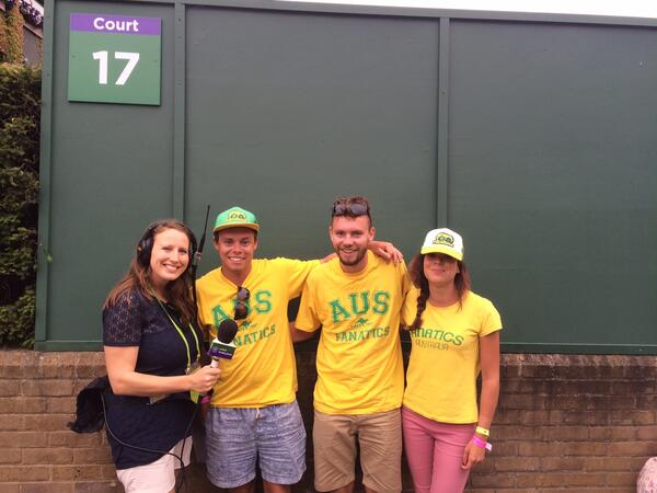 Faye with Aussie fans