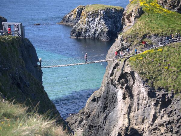Capturing the sounds of the waves at Carrick-a-Rede