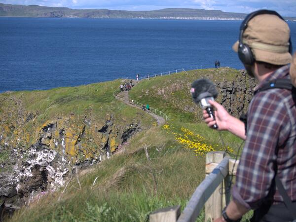 Recording visitors at Carrick-a-Rede