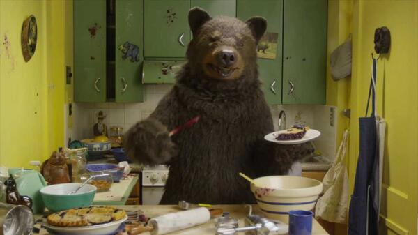 Bears with pie