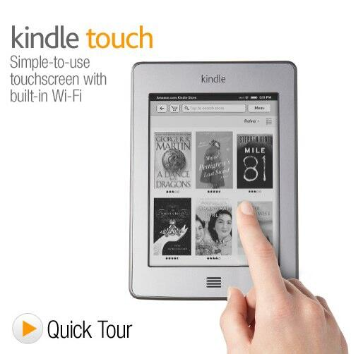Kindle Touch Touchscreen e-Reader with Wi-Fi 6 E Ink Display