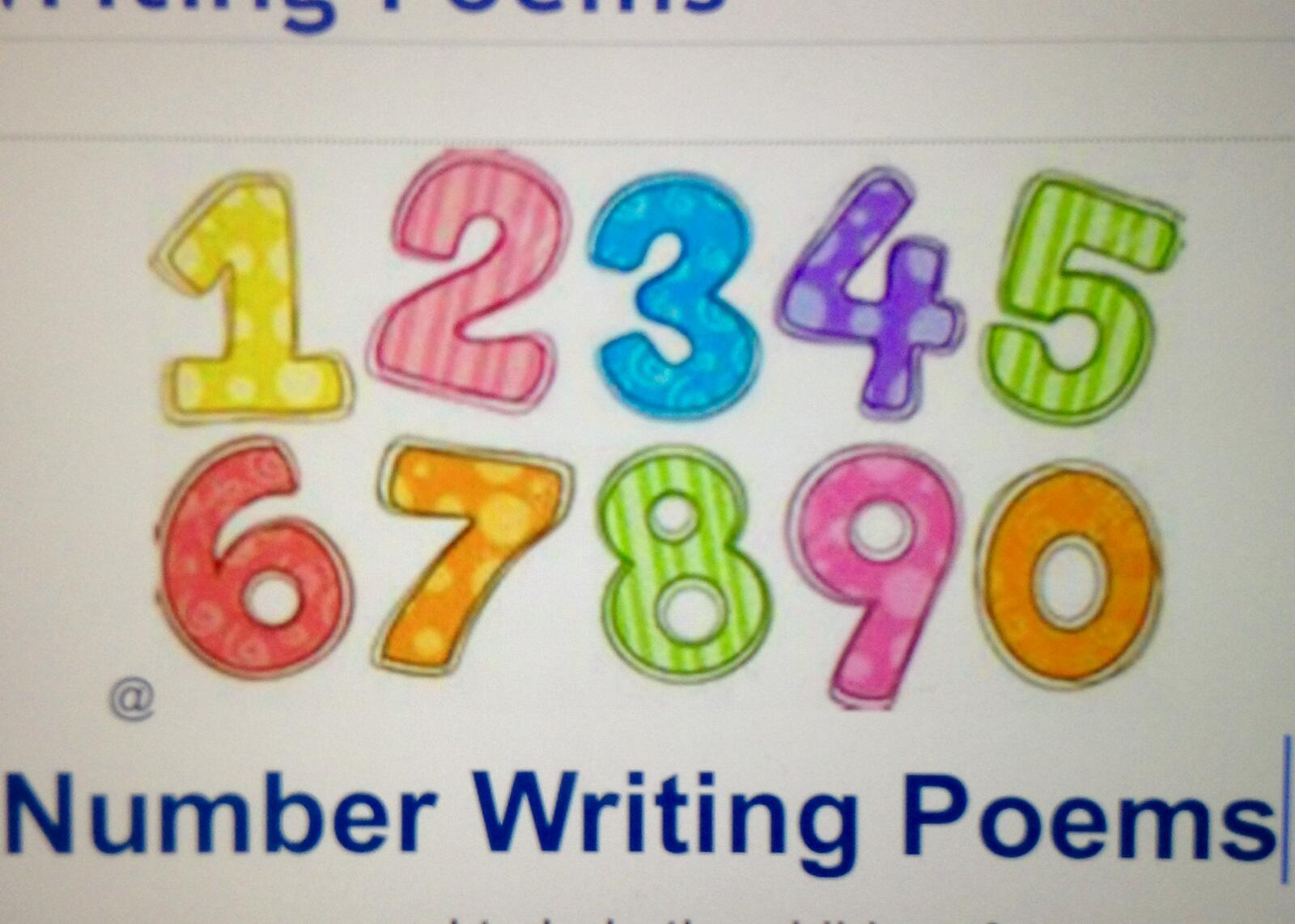 number writing poems These number writing poems are provided for your use in classrooms, home settings, day-cares, or wherever you may need them the.