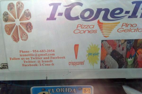 I-Cone-It magnet sign