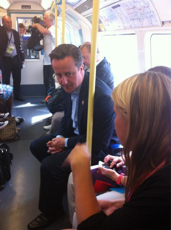 cameron on the tube
