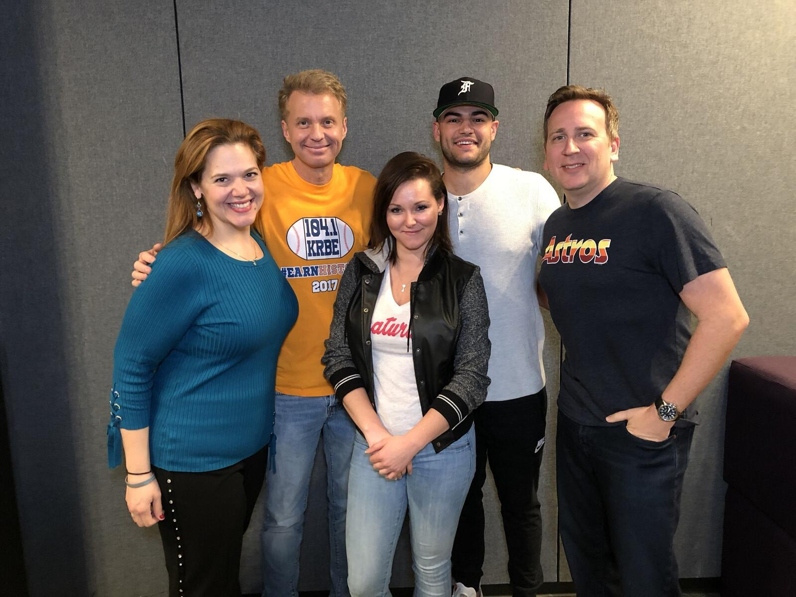 Lance McCullers Jr. visited The Roula & Ryan Show! - 11/10/17
