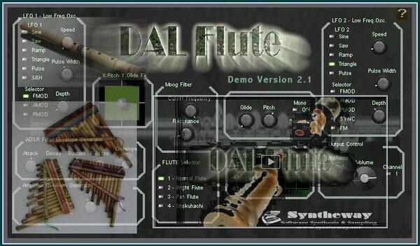 Syntheway DAL Flute Virtual Pan Pandean Pipes Shakuhachi Japanese Bamboo Flute VST Plugin