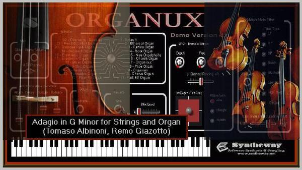 Adagio in G Minor for Strings and Organ Tomaso Albinoni Remo Giazotto Syntheway Strings Organux Virtual Organ VST Plugins Win Mac