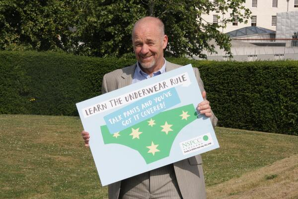 Tam Baillie SCCYP shows support for NSPCC s underwear rule campaign 1