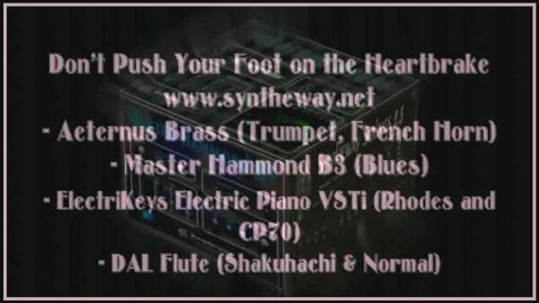 Dont Push Your Foot On The Heartbrake Kate Bush Aeternus Brass Trumpet Master Hammond B3 Organ ElectriKeys Rhodes Yamaha CP70 Shakuhachi Flute VST
