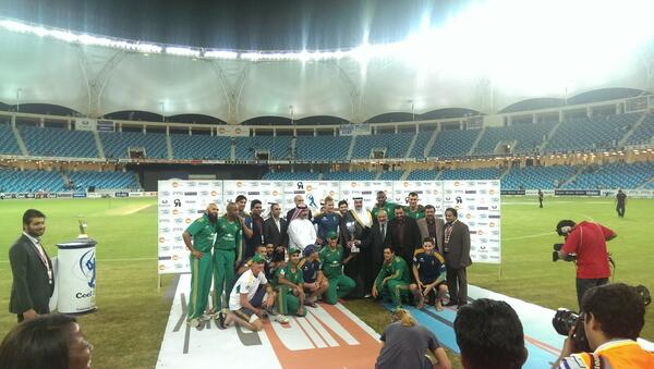 South Africw win the Cool Cool T20I Cup against Pakistan at the Dubai International Stadium