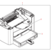 hp 3015 printer base assembly