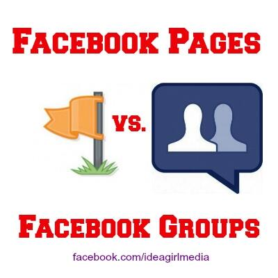 Facebook Pages vs Facebook Groups