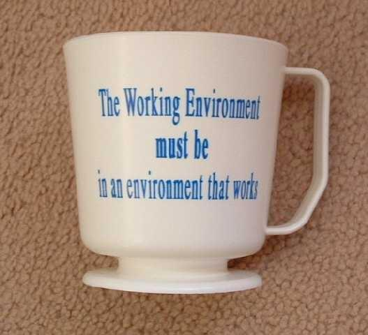 Working Environment display mug 1990