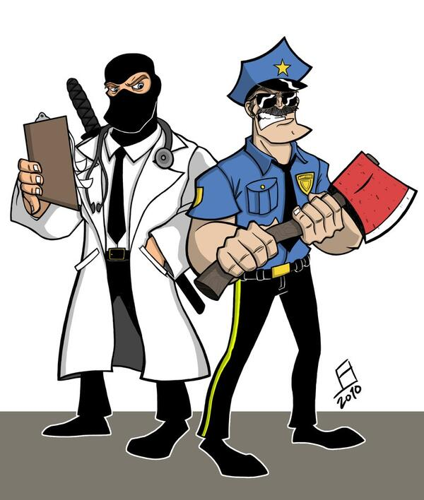 Axe Cop and Dr McNinja by juniorbruce