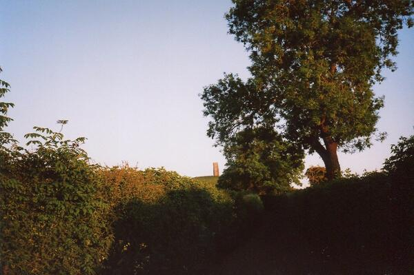 Glastonbury tor - from the lane